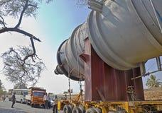 Accide dell'inceppamento di ingorgo di traffico delle carreggiate dell'India Immagine Stock