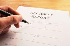 Accidebt Report Lizenzfreies Stockfoto