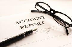 Accidebt Report Lizenzfreie Stockfotos