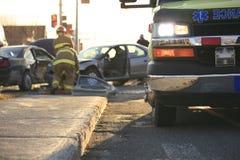 Accident ambulance transport hospital Royalty Free Stock Photography