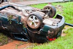Accident automobile Photos libres de droits