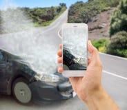 Accident avec ma voiture photos libres de droits