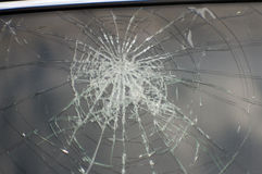 Accident, the broken glass of the car. Accident the broken glass of the car Royalty Free Stock Photo