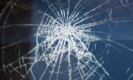 Accident, the broken glass of the car. Accident the broken glass of the car Stock Photo