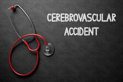 Accident cérébrovasculaire sur le tableau illustration 3D Image stock