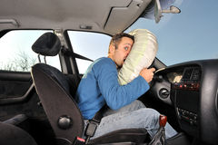 Accident car. Protection system for car drivers accident Royalty Free Stock Photos
