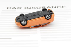 Accident car with car insuarance concept Stock Photography