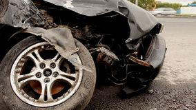 Accident. The car crash on the road stock video footage