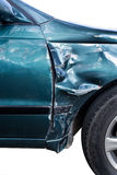 Accident car. Green Car accidents are the side tracks royalty free stock images