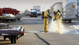 Accident with chemicals stock photo