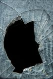 Accident, cracked window glass Royalty Free Stock Images