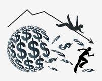Accident d'argent Photo stock