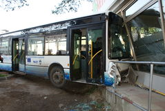 Accident d'autobus Photo libre de droits