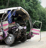 Accident d'autobus Image stock