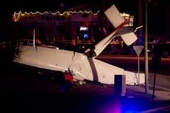 Accident d'avion à Tallahassee, la Floride Images libres de droits