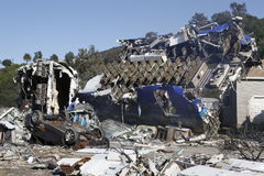 Accident d'avion photo libre de droits