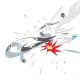 Accident d'avion illustration libre de droits