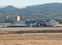 Accident d'avion SFO Image libre de droits