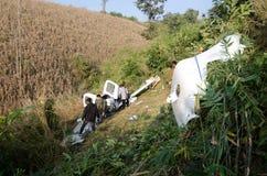 accident d'avions en montagne Photo stock