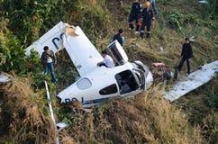 accident d'avions en montagne  Photographie stock libre de droits