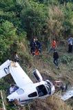 accident d'avions en montagne Photo libre de droits