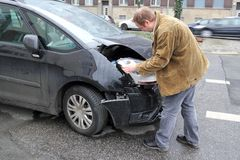 Accident damage assessment Royalty Free Stock Photography