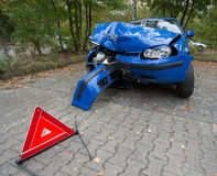 Accident damaged car Stock Image