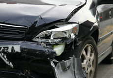 Accident Damaged Vehicle. An Accident Damaged Vehicle stock photography