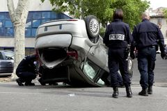 Accident dans la rue Photos libres de droits