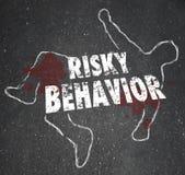 Accident de cadavre d'ensemble de craie de conduite à risque Photo libre de droits