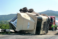 Accident de camion photographie stock libre de droits