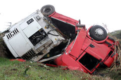 Accident de Camion Photo libre de droits