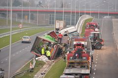 Accident de camion Photos libres de droits