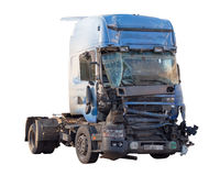 Accident de camion Photographie stock