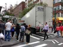 Accident de camion, Manhattan, NYC, NY, Etats-Unis Photos libres de droits