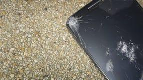 Accident de chute de dommages cassé par téléphone heurté fendu Photos libres de droits