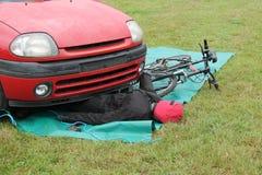 Accident de circulation routière Photographie stock