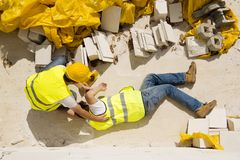 Accident de construction Photos stock
