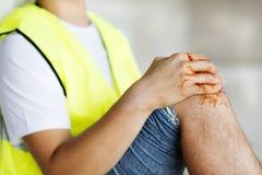 Accident de construction Images libres de droits