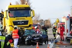 Accident de la circulation de voiture images libres de droits