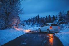 Accident de la circulation vitré Images libres de droits