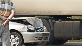 Accident de la route images stock