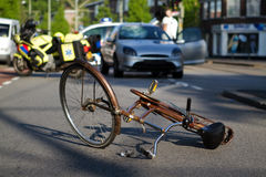 Accident de la route de bicyclette Photo stock