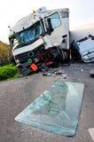 Accident de TIR Images libres de droits