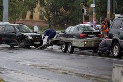 Accident de véhicule Photographie stock