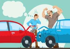 Accident de voiture Photographie stock