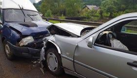 Accident de voiture avant image libre de droits