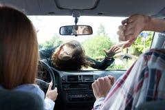 Accident de voiture avec le piéton Photo stock
