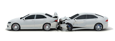 Accident de voiture deux Photo stock
