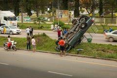 Accident de voiture en Thaïlande Photographie stock libre de droits